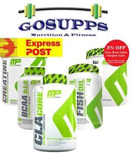 MusclePharm Creatine BCAA Cla Core Fish Oil Glutaine Shred Sports Assault EXP PO