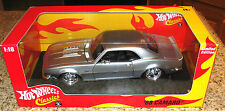 HOT WHEELS CLASSIC 1968 SILVER CAMARO LIMITED EDITION 1:18 SCALE DIECAST MINT
