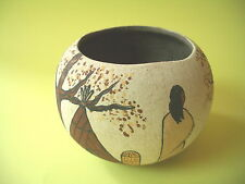 AMERICAN PAINTED POTTERY BOWL SIGNED DOS MONO