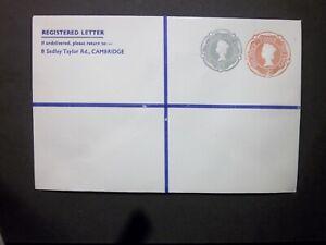 GB Postal Stationery STO QEII 2d + 2s 1d Compound Registered Envelope H&B RSP18