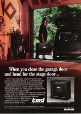 1989 PROMO AD FOR KMD GS90D MosFet Combo Amps KAMAN