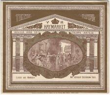 1892 H. Beerbohm Tree's Haymarket Theatre Royal 'Peril' Play Program