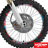 NIGHT RIDER RED BIKE RIM PROTECTORS WHEEL GRAPHICS ! CHOOSE SIZE ! DECALS TAPE