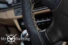 Se adapta a Peugeot 206 Cubierta del Volante Cuero Perforado Beige Doble Costura
