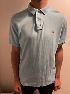 Ralph Lauren Polo Shirt L Large Blue Collared Short Sleeve