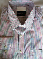 """Ex famous chainstore Mens formal tailored fit shirt RRp £25 Easy iron 17.5"""""""