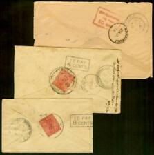 Malaysia/Penang 1920-3 inward covers/Postage Due