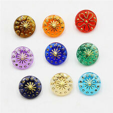 Promotion 100PCS 13mm Resin Buttons Mixed Color Scrapbooking Sewing Craft DIY