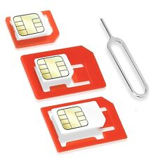 Wicked Chili 4in1 Sim Karten Adapter Set Universal Nano Micro Nadel Simadapter