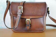 Vintage BALLY bag brown leather  crossbody bag or shoulder made in usa