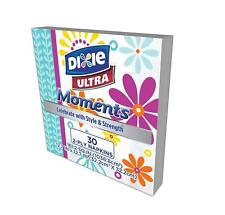 2 Pack Dixie Ultra Moments Paper Napkins 30 Count - 60 Napkins Total
