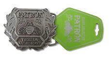 PATRON TEQUILA BEE 100% AGAVE LOGO METAL BELT BUCKLE NEW OFFICIAL MERCH