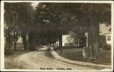 Colrain MA River St. c1910 Real Photo Postcard