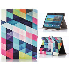 Colored Squares Leather Case Cover For Samsung Galaxy Tab S 10.5 T800 Stylish
