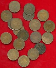 CANADA EDWARD VII LARGE CENT GROUP LOT 19 PIECES MIXED DATES AND CONDITIONS 1902