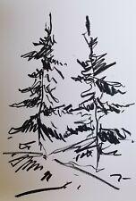 "JOSE TRUJILLO - OIL PASTELS Painting ABSTRACT ORIGINAL ARTS 13X19"" LANDSCAPE COA"