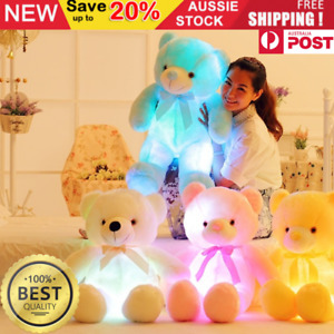 Baby Kids Light Up LED Giant Teddy Bear Glow Stuffed Plush Toy Soft Doll Gift