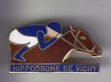 RARE PINS PIN'S .. SPORT CHEVAL HORSE HIPPISME COURSES HIPPODROME VICHY 03 ~DT