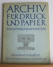 Archives for Printing 1956 Journal in German & English Many Articles on Printing