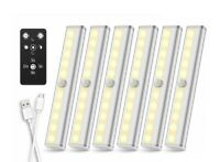 Remote Control LED Closet Lights Under Cabinet Lighting USB Rechargerable 6pack