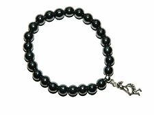 B-0151  -  Beautiful Magnetic Hematite Gemstone Fertility Charm Wish Bracelet