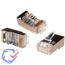 Maclean MCTV664 Connettori Modulari Ethernet RJ45 8P8C Schermati 100 Pezzi
