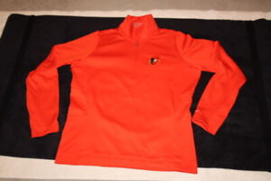 NIKE GOLF TOUR PERFORMANCE MLB BALTIMORE ORIOLES 1/4 ZIP PULLOVER THERMA-FIT XL