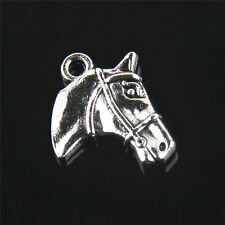 Free Shipping  Tibetan Silver  Horse Charms For Jewelry Making 17mm 10Pcs