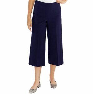 MARIO SERRANI Comfort Stretch Culottes, Size 6, Navy