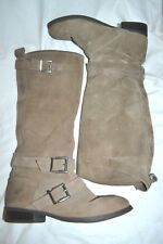 Women's Tall Taupe Suede Leather Boots Sweet Life Dolce Vita 7.5