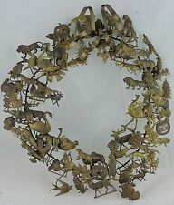 Vintage Petites Choses Dresden Style Holiday Brass Wreath Animals Birds People