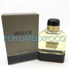 ARMANI POUR HOMME Giorgio Armani Men COLOGNE Splash 1.7oz-50ml EDT Vintage (BN02