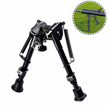 6-9 inch Foldable Spring Return Sniper Hunting Rifle Bipod Sling Swivel Mount AL