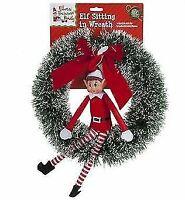 43cm Naughty Elves Behavin' Badly Christmas Elf Xmas Wreath Hanging Decoration
