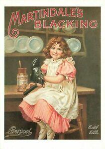 Advertising Postcard, Martindale's Blacking, Liverpool, Shoe Shine MT0