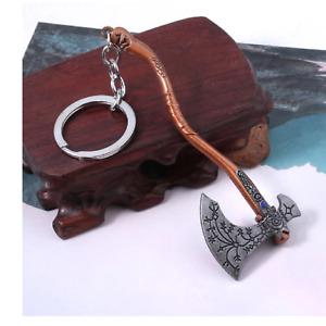Kratos Leviathan Axe Key Chain Guardian Shield Metal Ax Style Tactical Key Ring