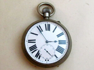 PAVEL BURE Antique Enamel Dial BIG Swiss Pocket Watch for Russian EMPIRE Service
