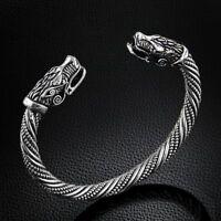 Wolf Head Bracelet Bangle Viking Jewelry Fashion Men Wristband Cuff Men Women s