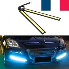 2 Feux de jour led ddrl Avant Phare Diurne Eclairage Voiture auto LED Blanc