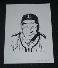 1981 Stan Musial SL Cardinals Limited Edition Artwork Print by Mark Stewart 9/20