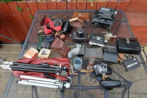 Job Lot Of Old Vintage Cameras, Cine Cameras,  Accessories,