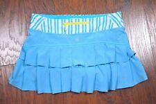 Lululemon Run: Pace Setter Skirt Spry Blue Twin Stripe Women's 8