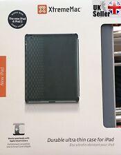 Genuine Xtreme Mac Custodia per iPad 2/3/4 * Schermo Scudo Micro Seta Grigio Scuro *