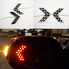 2 x Red 14 SMD LED Arrow Panel Rear View Side Mirror Turn Signal Indicator Light