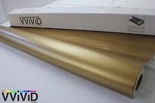 Gold Matte Flat Metallic Vinyl Wrap Roll 5ftx100ft Decal for Car Bike Boat MGO5M