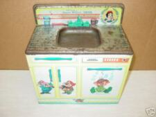 Vintage Disney Snow White Sink Dwarfs Tin Metal Old toy