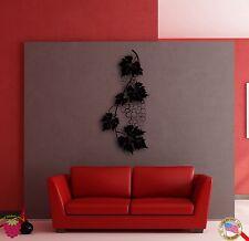 Wall Sticker Vine Wine Grape Cool Decor for Living Room or Kitchen z1394