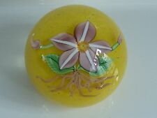 Greg Held Crystal Floral Orient & Flume Paperweight 1983 Excellent Condition