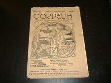 1912 CORDELIA RIVISTA SETTIMANALE PER LE SIGNORINE DIR. JOLANDA CENTO FERRARA