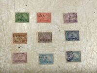 9 U.S. Revenue Stamps 1899 FI Co K & M Ambler 1899 hand cancelled 1899